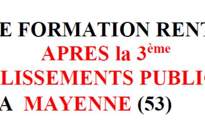 OFFRE DE FORMATION POST 3ème